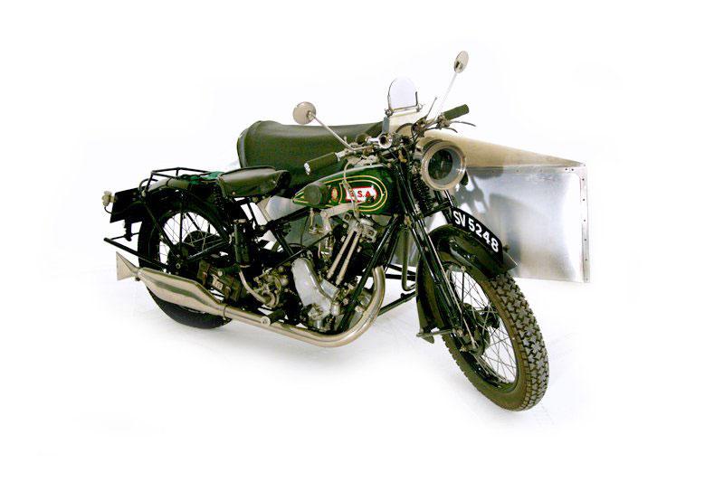 BSA Motorcycles S27 Sloper (1928)